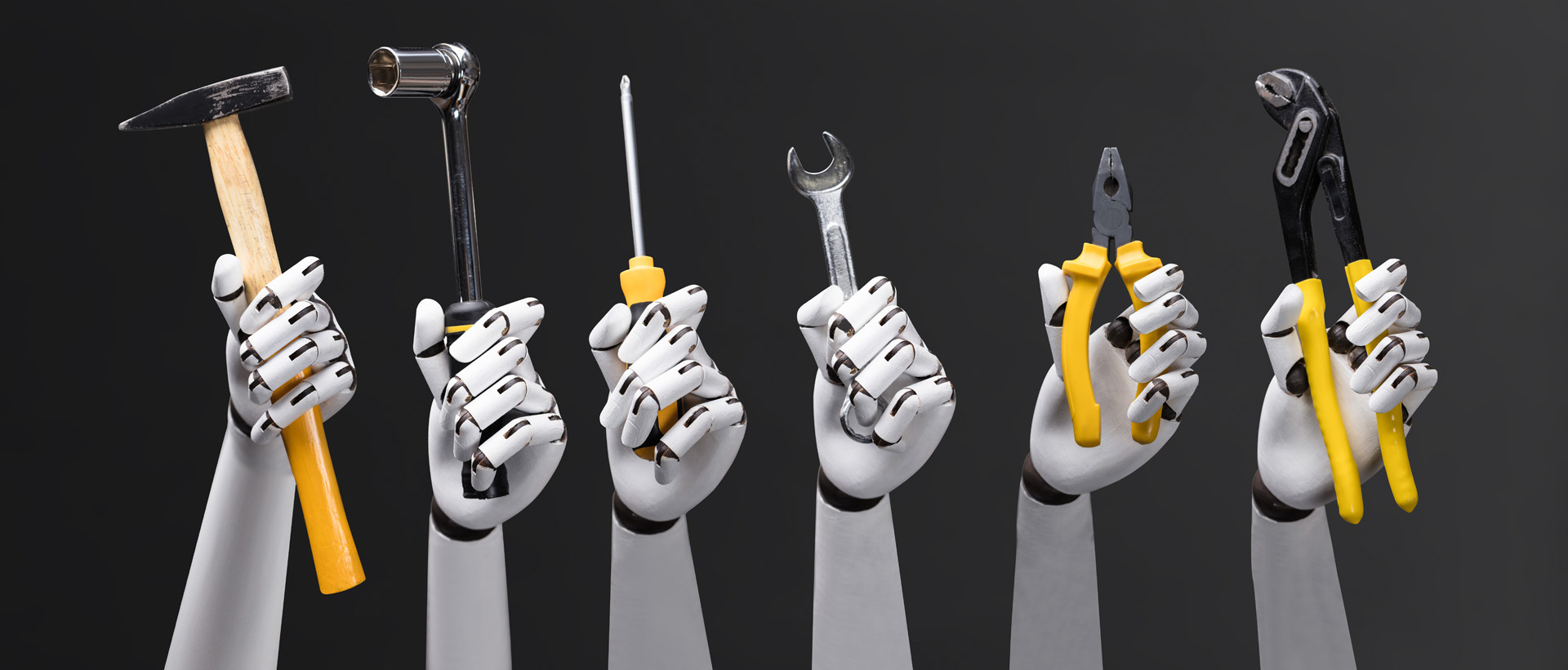 Robot Holding Work Tools